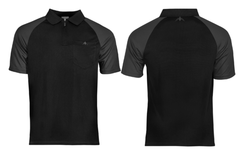 Mission Darts EXOS Cool SL Shirt  Black - Grey Personalisiert