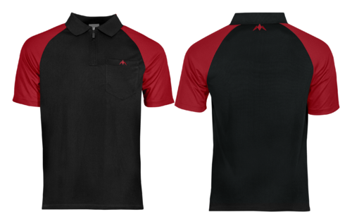 Mission Darts EXOS Cool SL Shirt  Black - Red Personalisiert