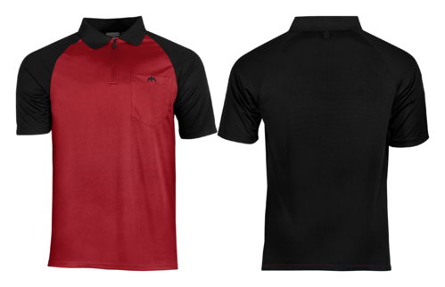Mission Darts EXOS Cool FX Shirt Red - Black Personalisiert