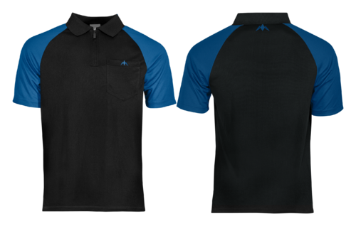 Mission Darts EXOS Cool SL Shirt  Black - Blue  Personalisiert