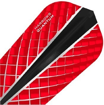 Harrows Quantum X Slim Flights Red