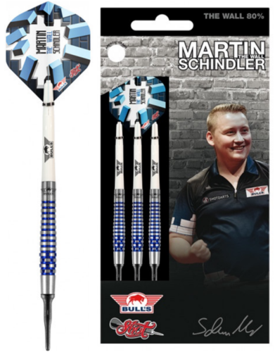 Martin Schindler The Wall 80% PCT Blue Softdarts 18g