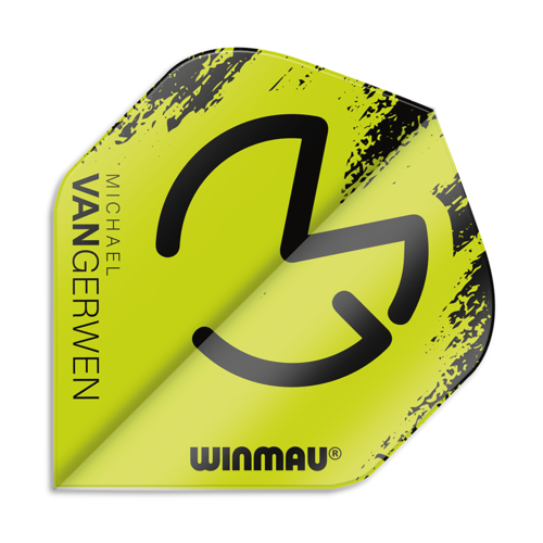 Winmau MVG Van Gerwen Standard Flights - Black/Green -